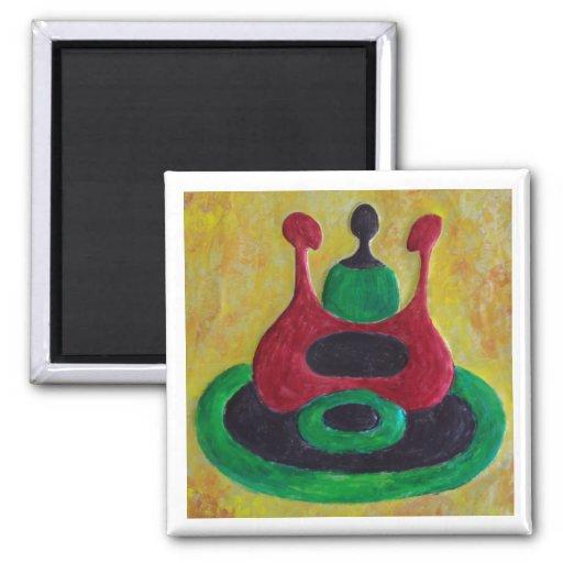 Círculo de los regalos del arte de Magnet_African  Iman