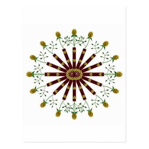 Círculo de los rosas del oro tarjeta postal