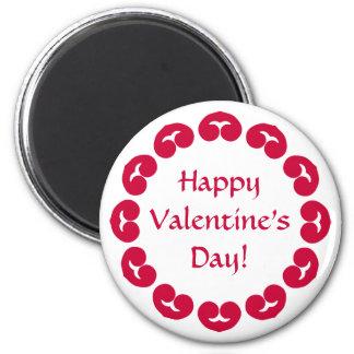 Círculo de lujo del el día de San Valentín rojo de Imán Redondo 5 Cm
