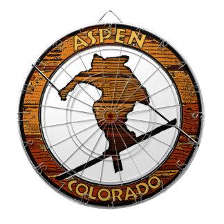Círculo de madera del esquiador de Aspen Colorado