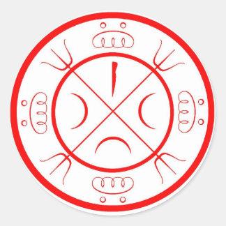 Círculo de Mohammedian de la protección Pegatina Redonda
