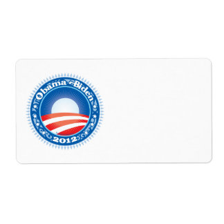 Círculo de Obama Biden 2012 Etiqueta De Envío