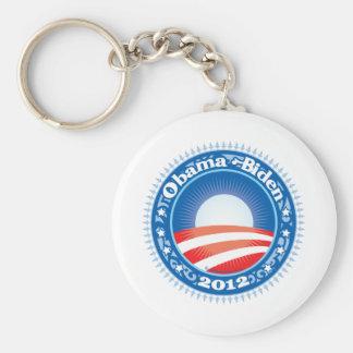Círculo de Obama Biden 2012 Llavero Redondo Tipo Pin