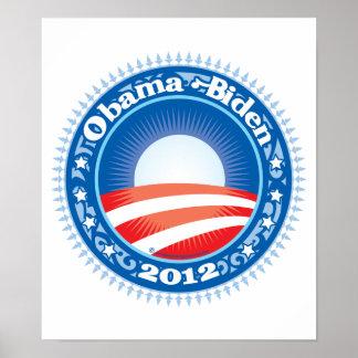 Círculo de Obama Biden 2012 Impresiones