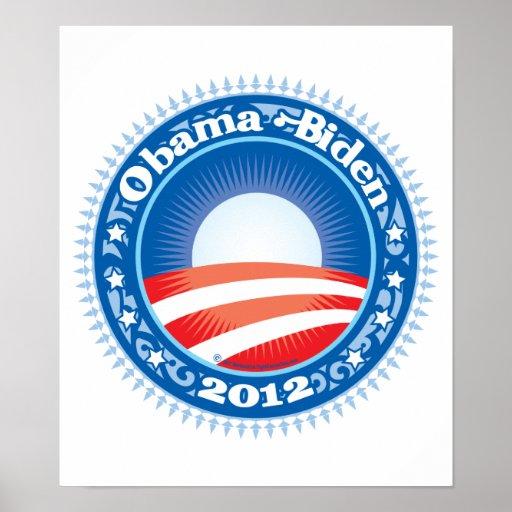 Círculo de Obama Biden 2012 Póster
