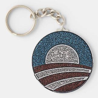 Círculo de Obama Llavero Redondo Tipo Pin