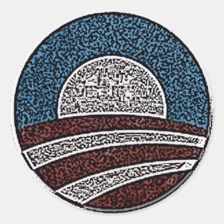 Círculo de Obama Pegatina Redonda