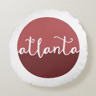Círculo de Ombre del moho de Atlanta, Georgia el | Cojín Redondo