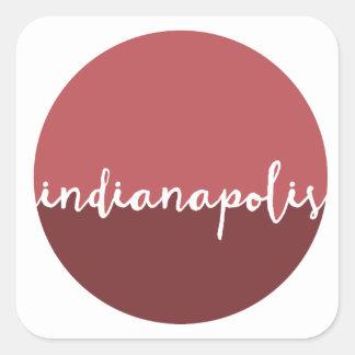 Círculo de Ombre del moho de Indianapolis, Indiana Pegatina Cuadrada