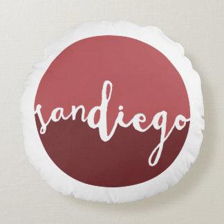 Círculo de Ombre del moho de San Diego, California Cojín Redondo