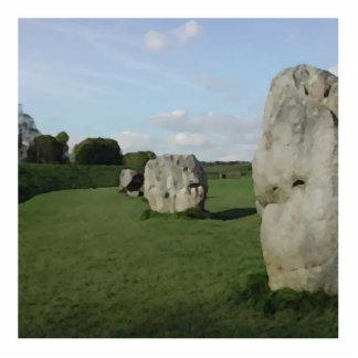 Círculo de piedra antiguo. Avebury, Wiltshire, Ing Escultura Fotografica