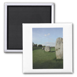 Círculo de piedra antiguo. Avebury, Wiltshire, Ing Imán Cuadrado