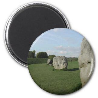 Círculo de piedra antiguo. Avebury, Wiltshire, Ing Imán Redondo 5 Cm