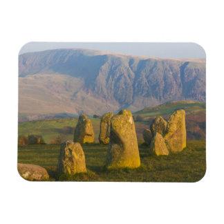 Círculo de piedra de Castlerigg, distrito del lago Imán Rectangular