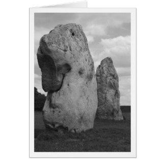 Círculo de piedra tarjeta de felicitación