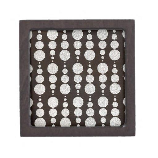Círculo de plata caja de regalo de calidad
