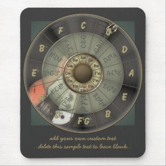 Círculo de quintos - guitarra del vintage alfombrillas de ratones