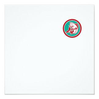 Círculo de salto de la perca americana retro invitación 13,3 cm x 13,3cm