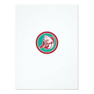 Círculo de salto de la perca americana retro invitación 13,9 x 19,0 cm