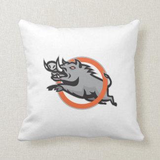 Círculo de salto del cerdo del Razorback salvaje d Almohada