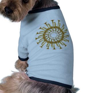 Círculo de trompetas camisas de perritos