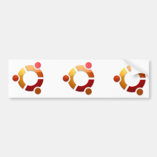 Círculo de Ubuntu Linux del logotipo de los amigos Etiqueta De Parachoque