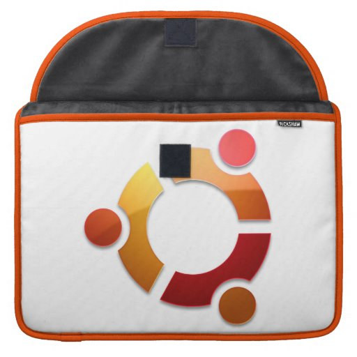 Círculo de Ubuntu Linux del logotipo de los amigos Funda Para Macbooks