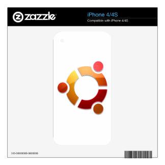 Círculo de Ubuntu Linux del logotipo de los amigos iPhone 4 Skins