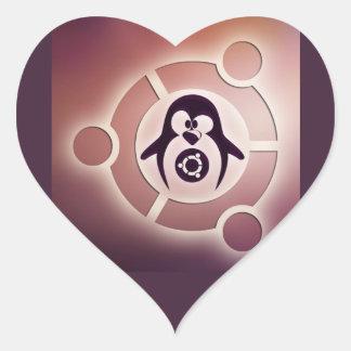 Círculo de Ubuntu Linux del logotipo de los amigos Colcomanias Corazon Personalizadas