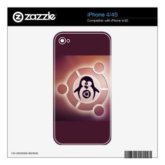 Círculo de Ubuntu Linux del logotipo de los amigos Skin Para El iPhone 4S