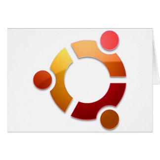 Círculo de Ubuntu Linux del logotipo de los amigos Tarjeta De Felicitación