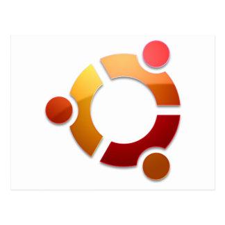 Círculo de Ubuntu Linux del logotipo de los amigos Tarjetas Postales