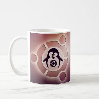 Círculo de Ubuntu Linux del logotipo de los amigos Taza Básica Blanca