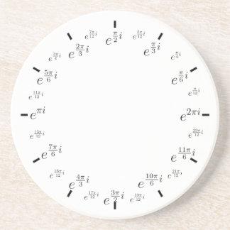 círculo de unidad complejo posavasos para bebidas