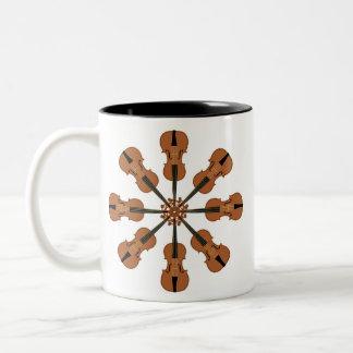 Círculo de violines tazas