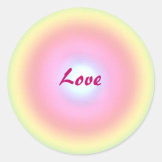 Círculo del amor etiquetas redondas