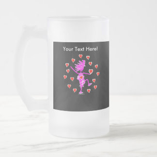 Círculo del amor taza de cristal