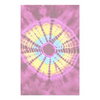 Círculo del batik del Hippie Papelería Personalizada