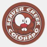 Círculo del Beaver Creek Pegatina Redonda
