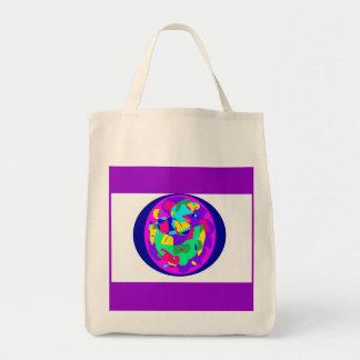 círculo del bolso de la lona del color bolsas de mano