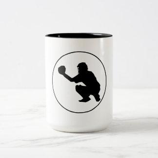 Círculo del colector del béisbol taza de café