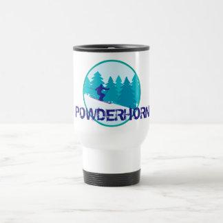 Círculo del esquí de Powderhorn Taza De Viaje