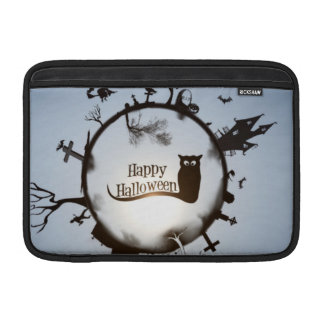 Círculo del feliz Halloween Fundas MacBook