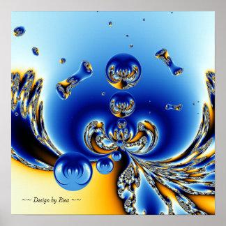 Círculo del fractal de la vida poster
