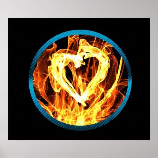 Círculo del fuego del corazón impresiones