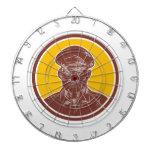 Círculo del grabar en madera del capitán de mar tabla dardos