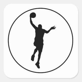 Círculo del Layup del baloncesto Calcomanía Cuadradas Personalizada