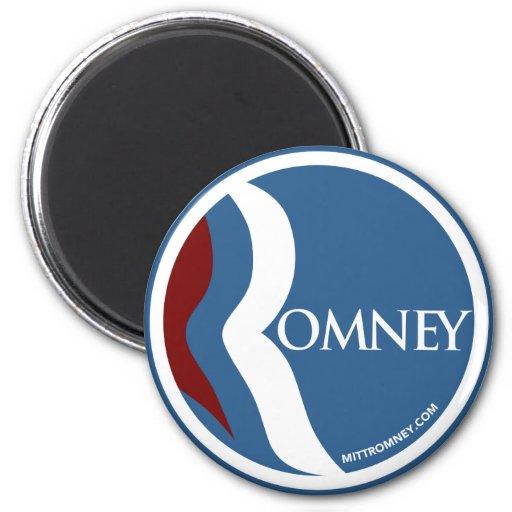 """Círculo del logotipo de Mitt Romney """"R"""" (azul) Imán De Frigorífico"""