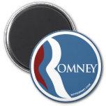 """Círculo del logotipo de Mitt Romney """"R"""" (azul) Imán"""