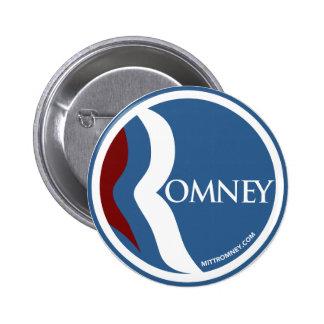 """Círculo del logotipo de Mitt Romney """"R"""" (azul) Pin Redondo De 2 Pulgadas"""
